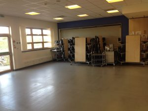 Cawdor Community Centre Dining Hall has fold away chairs
