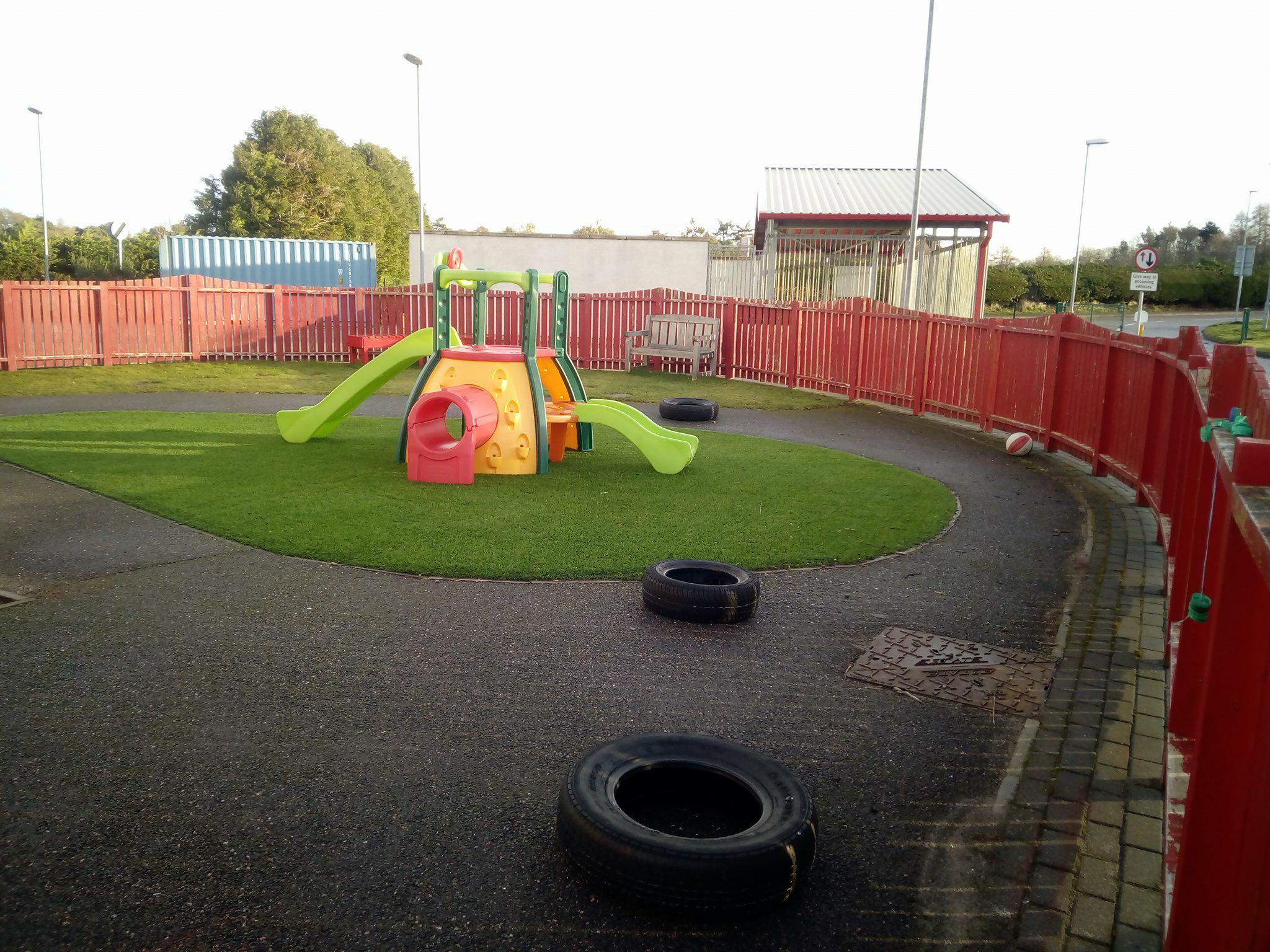 Outdoor play area cawdor community centre